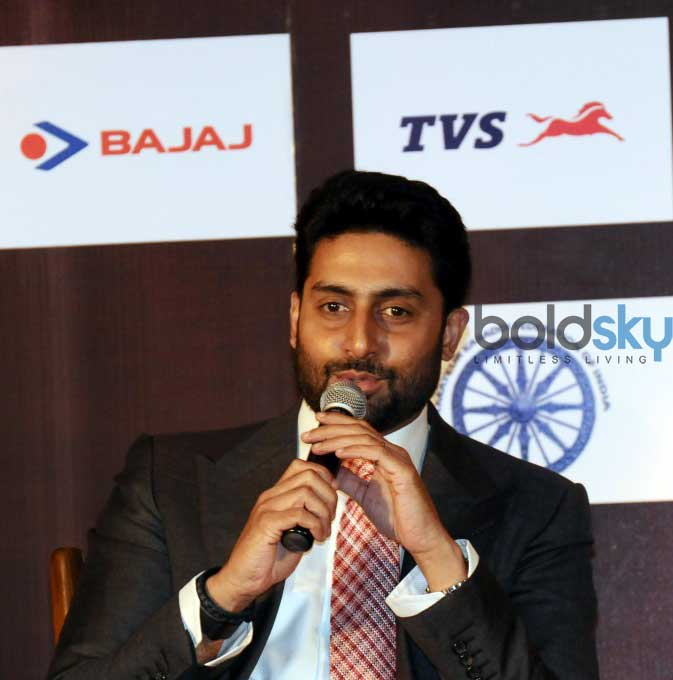 Abhishek Bachchan Clicked At The Pro Kabaddi League Press Conference