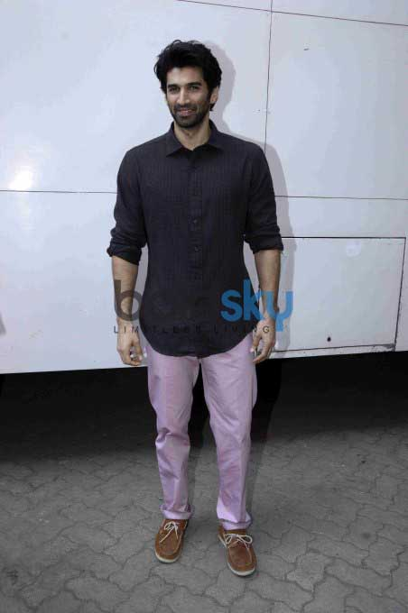 Aditya And Katrina At Mehboob Studio While Promoting Fitoor