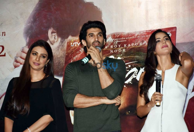 Aditya Roy, Katrina Kaif & Tabu At The Trailer Launch Of 'Fitoor'