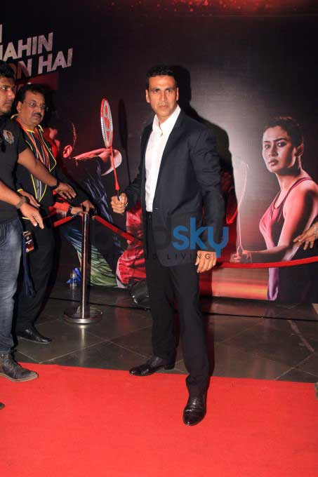 Akshay Kumar With Mumbai Rockets At The Premier Badminton League