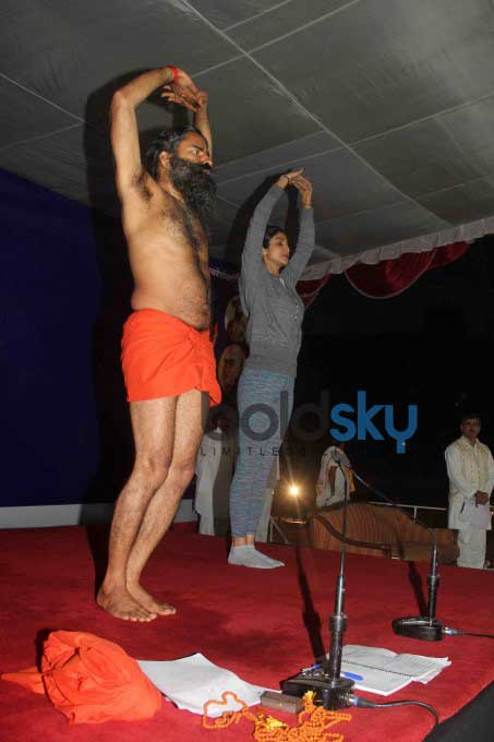 Baba Ramdev And Shilpa Shetty's Epic Yoga Session Together