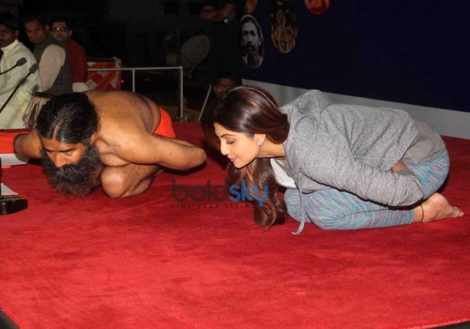 Baba Ramdev And Shilpa Shetty's Epic Yoga Session Together