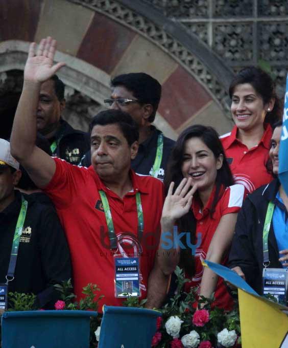 Katrina Kaif At Mumbai Marathon 2016