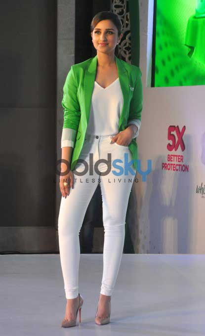Parineeti Chopra During The Launch Of New Whisper Ultra