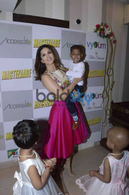 Sunny Leone Meets The Kids From Access Life NGO