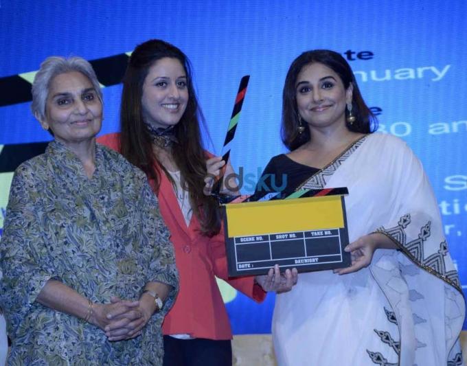 Vidya Balan, Vikas Bahl And Meghna Gulzar At Yes Bank Awards