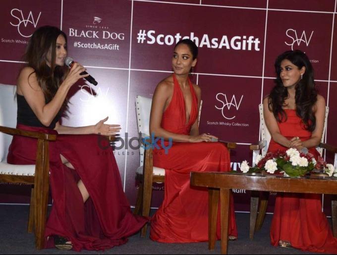 Chitrangda, Lisa & Shibani At Launch Of Diageo Scotch Gift Collection
