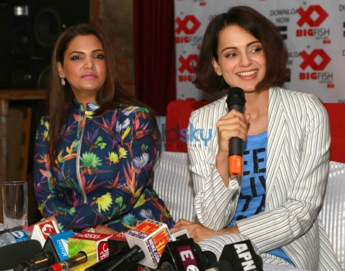 Kangana Ranaut At Launch Of The Big Fish Ventures