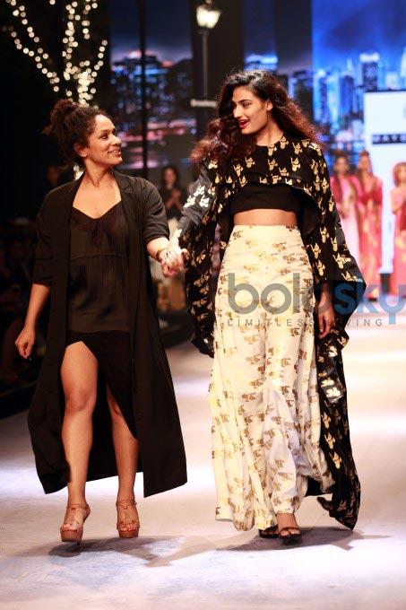 Masaba At Amazon India Fashion Week Spring Summer 2017: Athiya Shetty Walking The Ramp For Designer Masaba Gupta