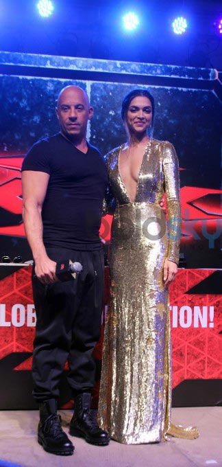 Deepika Padukone In Naeem Khan Gown For XXX INDIA Premiere