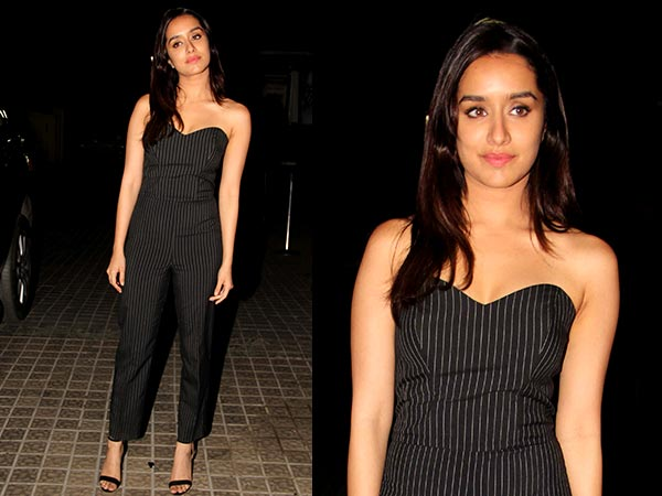 Shraddha Kapoor Looks Pretty In Black Dress At OK Jannu Promotions