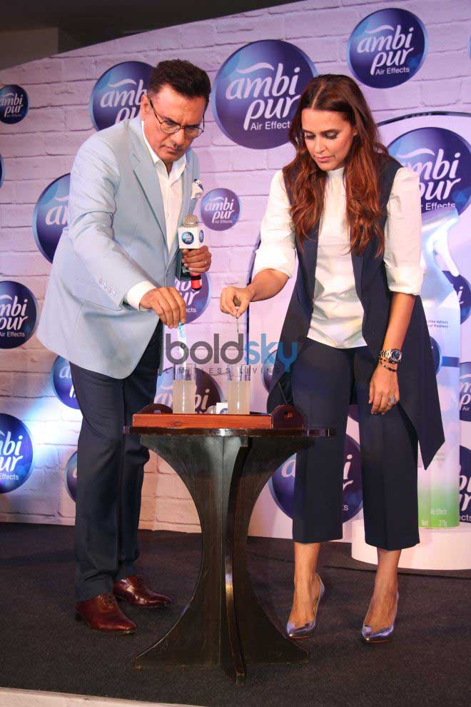 Boman Irani And Neha Dhupia For An Ambi Pur Product