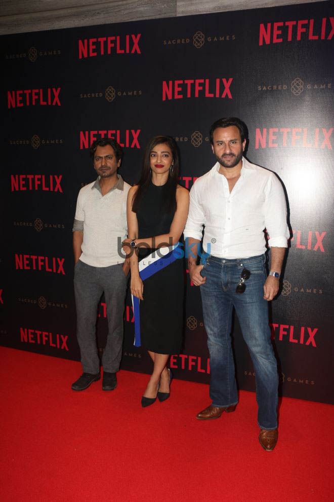 Radhika Apte,Saif Ali Khan And Nawazuddin Siddiqui At Netflix's Web Series