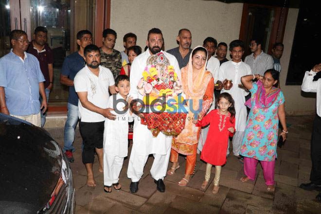 Sanjay Dutt Snapped During His Ganpati Visarjan