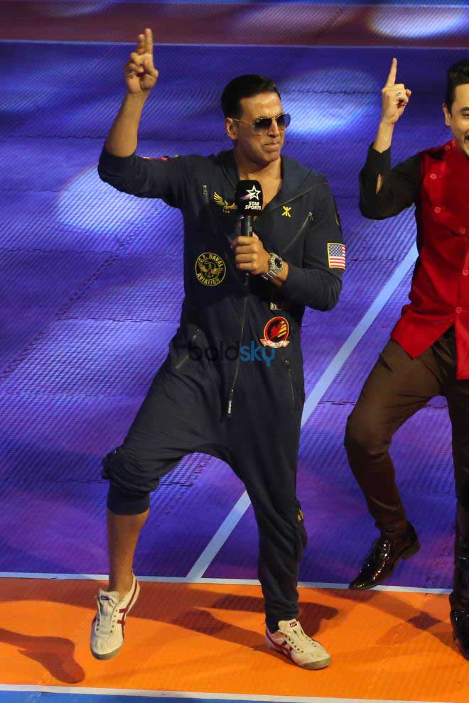 Actor Akshay Kumar At The Pro Kabaddi