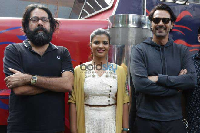 Arjun Rampal With Aishwarya Rajesh At A Press Meet To Promote Daddy In New Delhi