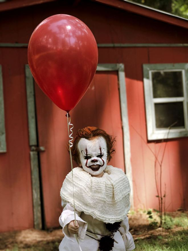 Creative PhotoShoot  Of Three-year-old Louie As Pennywise