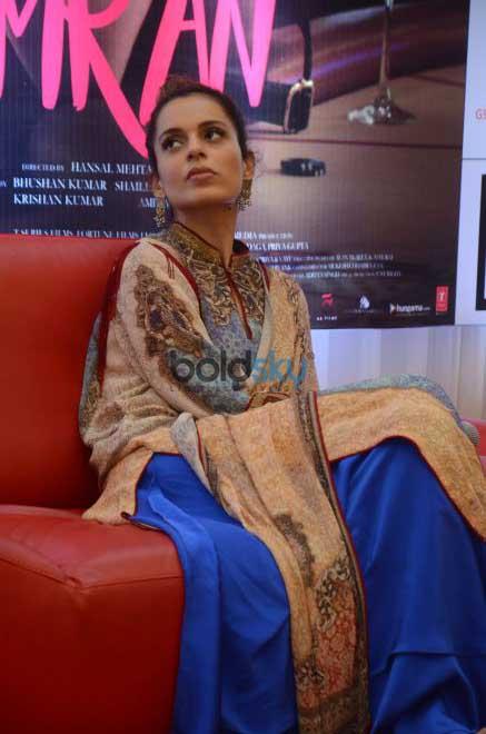 Kangana Ranaut At A Press Meet To Promote Simran,In Ahmedabad