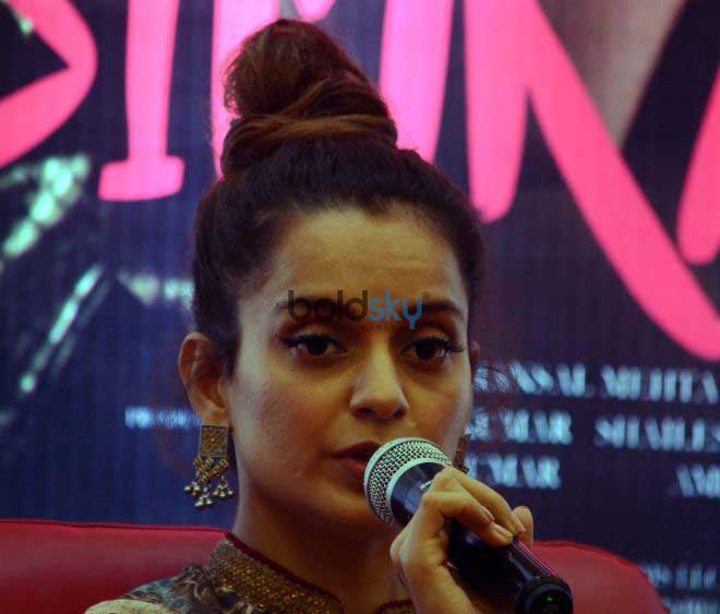 Kangana Ranaut At A Press Meet To Promote Simran,In Ahmedabad