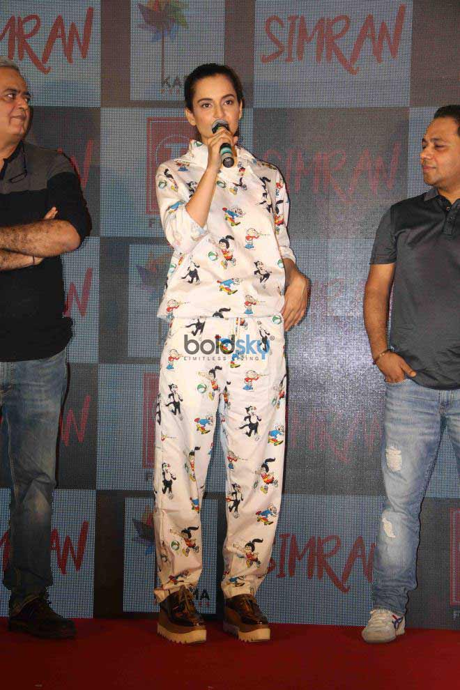 Kangana Ranaut At Simran Movie Song Launch