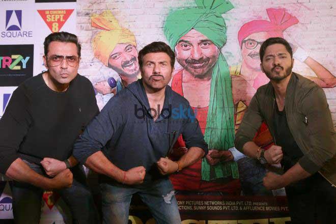 Sunny Deol, Bobby Deol and Shreyas Talpade Promotes Poster Boys In New Delhi