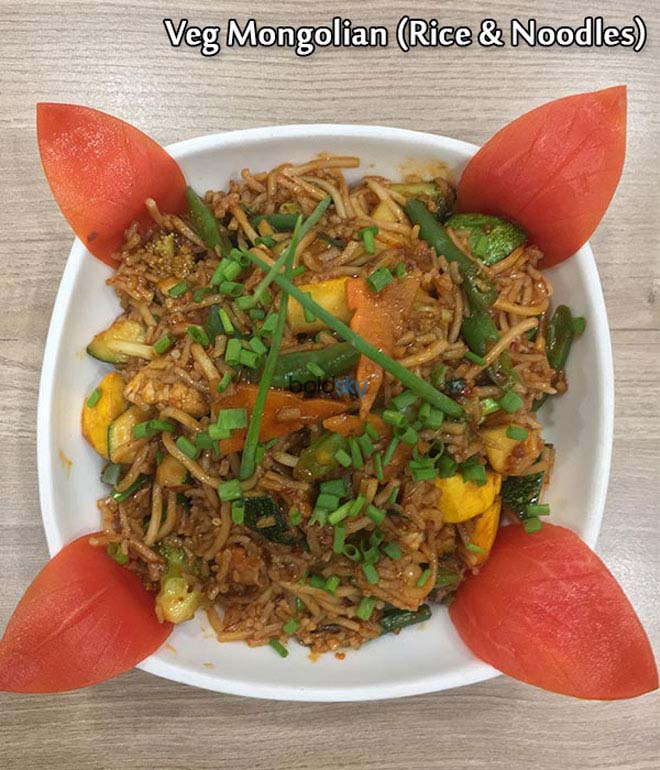 Stir-fried Veg Mongolian Rice And Noodles Recipe