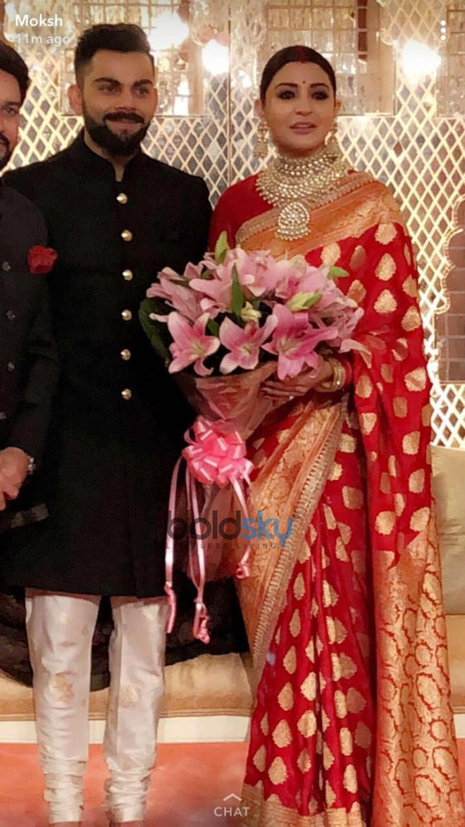 Virat Kohli Wedding.Virat Kohli And Anushka Sharma Wedding Reception In New Delhi Photos