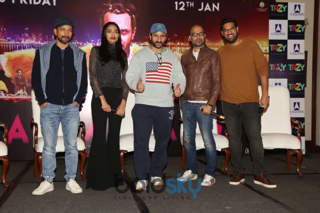 Saif Ali Khan And The Cast Of 'Kaalakaandi' Press Meet