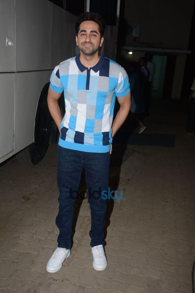 Ayushmann Khurrana Spotted At Magazine Shoot Mehboob Studio Bandra
