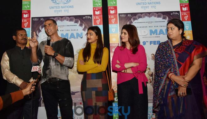 Akshay Kumar And Twinkle Khanna At Special Screening Of 'Padman'