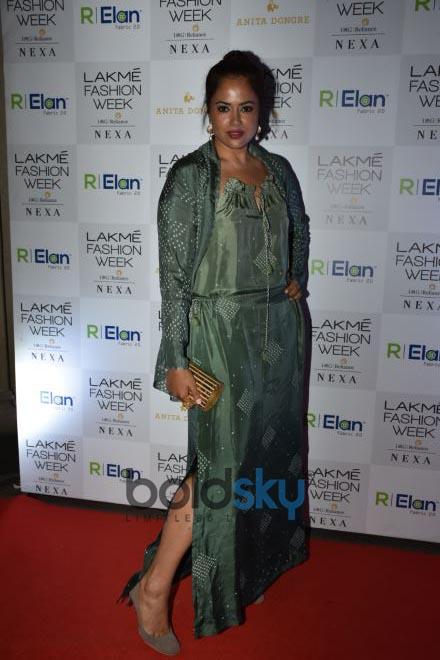 Anita Dongre Red Carpet At Lakme Fashion Week 2018