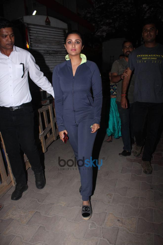 Arjun Kapoor And Parineeti Chopra Spotted At Filmalaya Studio Amboli