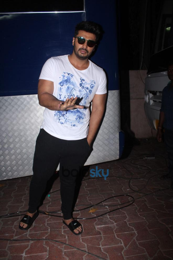 Arjun Kapoor And Parineeti Chopra Spotted At Filmalaya Studio Amboli