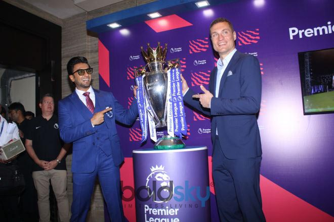 Ranveer Singh With Football Premier League