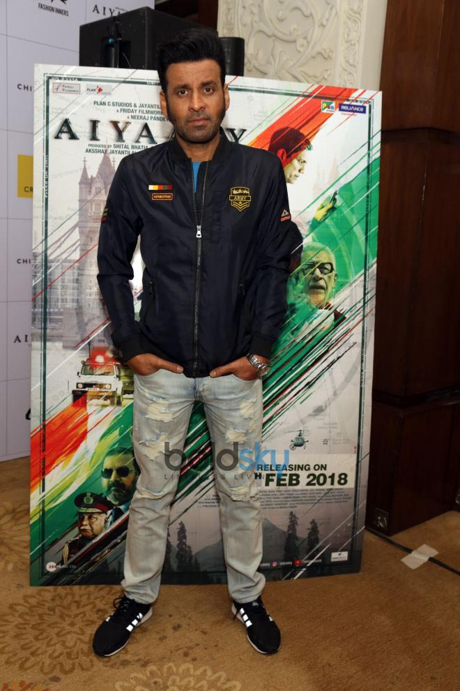 Siddharth Malhotra,Rakul Preet & Manoj Bajpayee At Launch Of Coffee Table Book Aiyaary In New Delhi