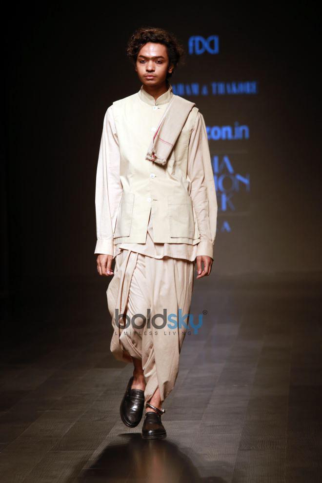Designer Abraham & Thakore At Amazon India Fashion Week In New Delhi