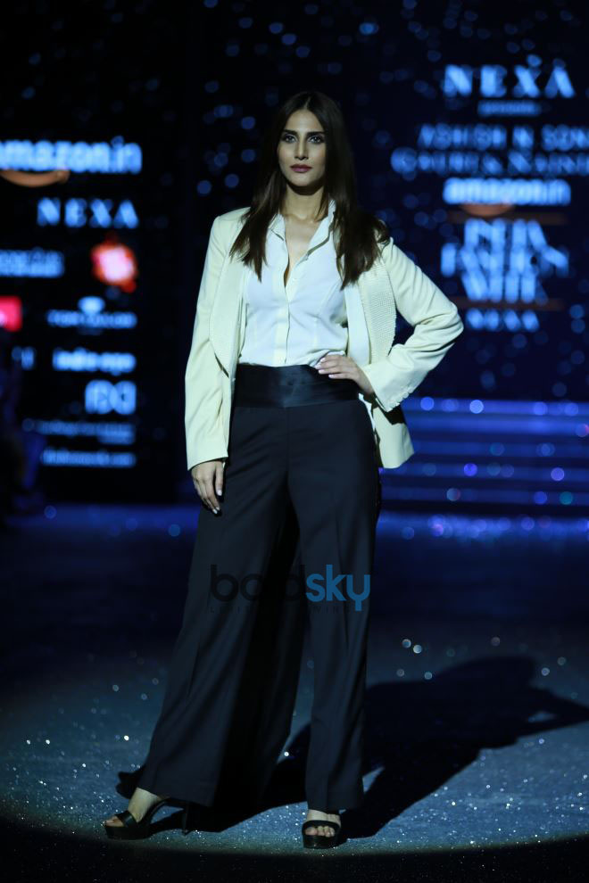 Designer Gauri,Nainika And Vaani Kapoor At Amazon India Fashion Week In New Delhi