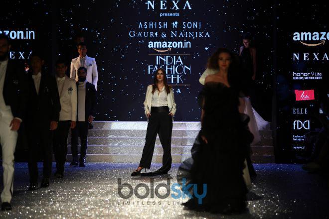 Designer Gauri,Nainika And Vaani Kapoor At Amazon India Fashion Week In New Delhi