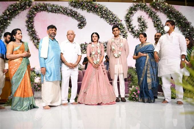 DK Shivakumar's Daughter And CCD Founder VG Siddhartha's Son Engagement