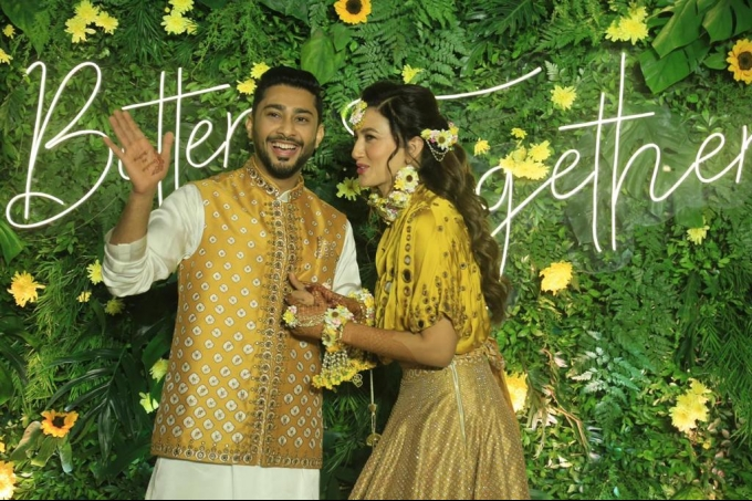 Gauhar Khan And Zaid Darbar Mehendi Ceremony Photos