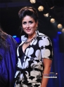 Kareena Dressed in a Long black and white dress